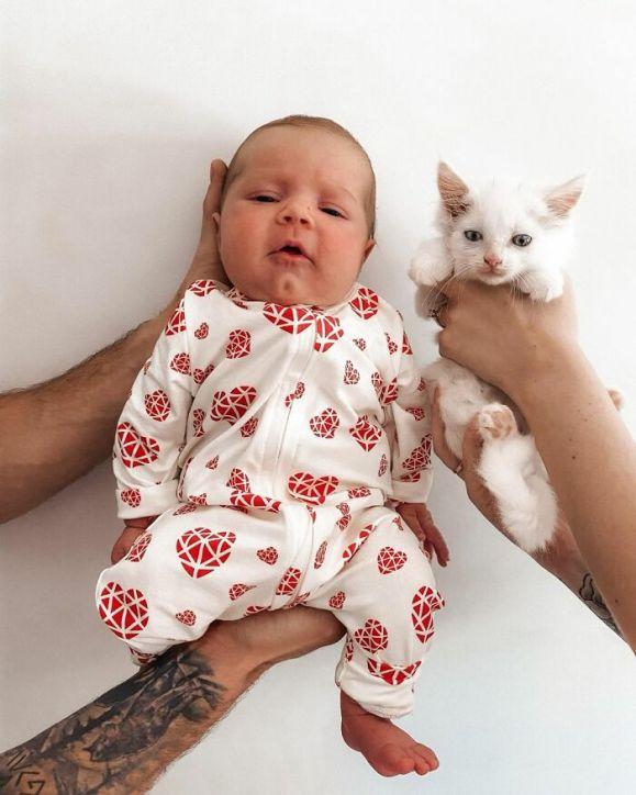 Mulher grávida e gato dão à luz ao mesmo tempo depois de encontrar a gata grávida e alimentá-la