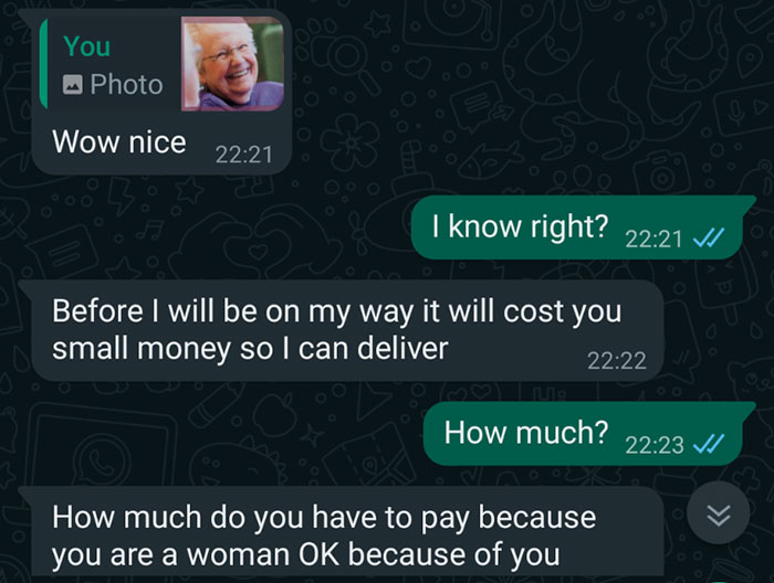 'Taking a scammer for a ride': The scammer deliberately tries to fool the person but instead falls into a trap.