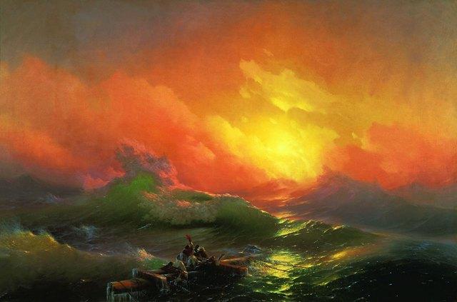 pintura-olas-mar-barcos-ivan-konstantinovich aivazovsky (3)