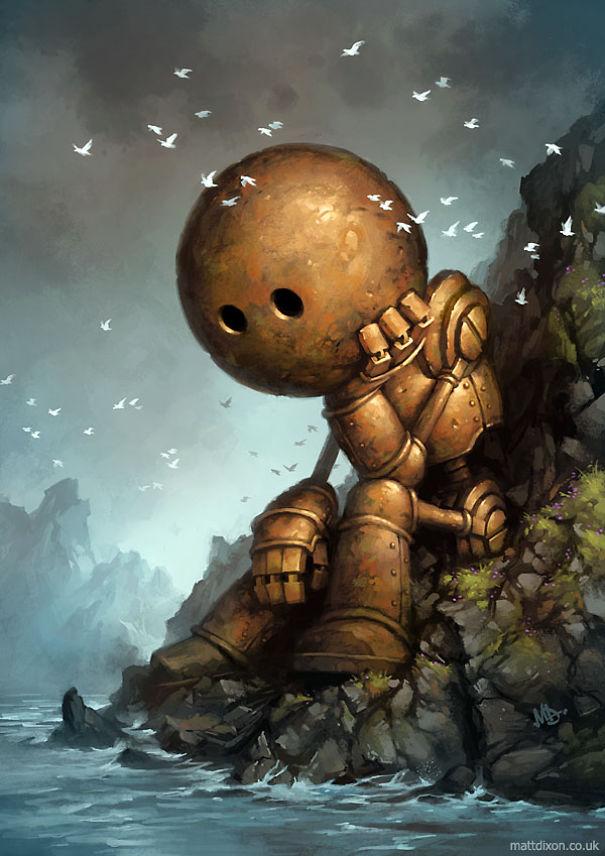 Pinturas-de-robots-solitarios-contemplando-el-mundo (2)