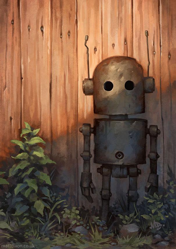 Pinturas-de-robots-solitarios-contemplando-el-mundo (5)