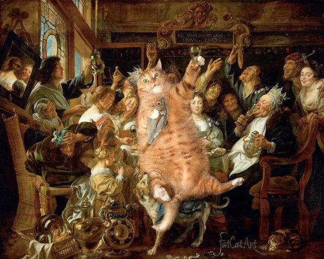 pinturas-famosas-con-gato-Ginger-svetlana-petrova (12)