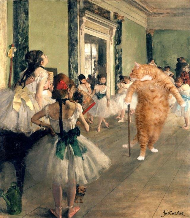 pinturas-famosas-con-gato-Ginger-svetlana-petrova (5)