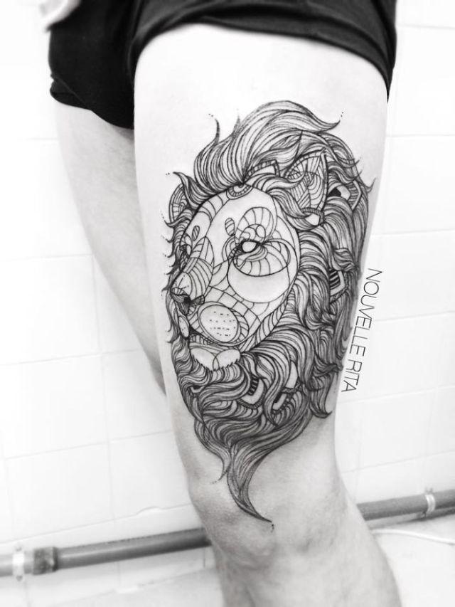 Empece A Hacer Tatuajes Lineales Para Evadirme Y Ya No Puedo Parar