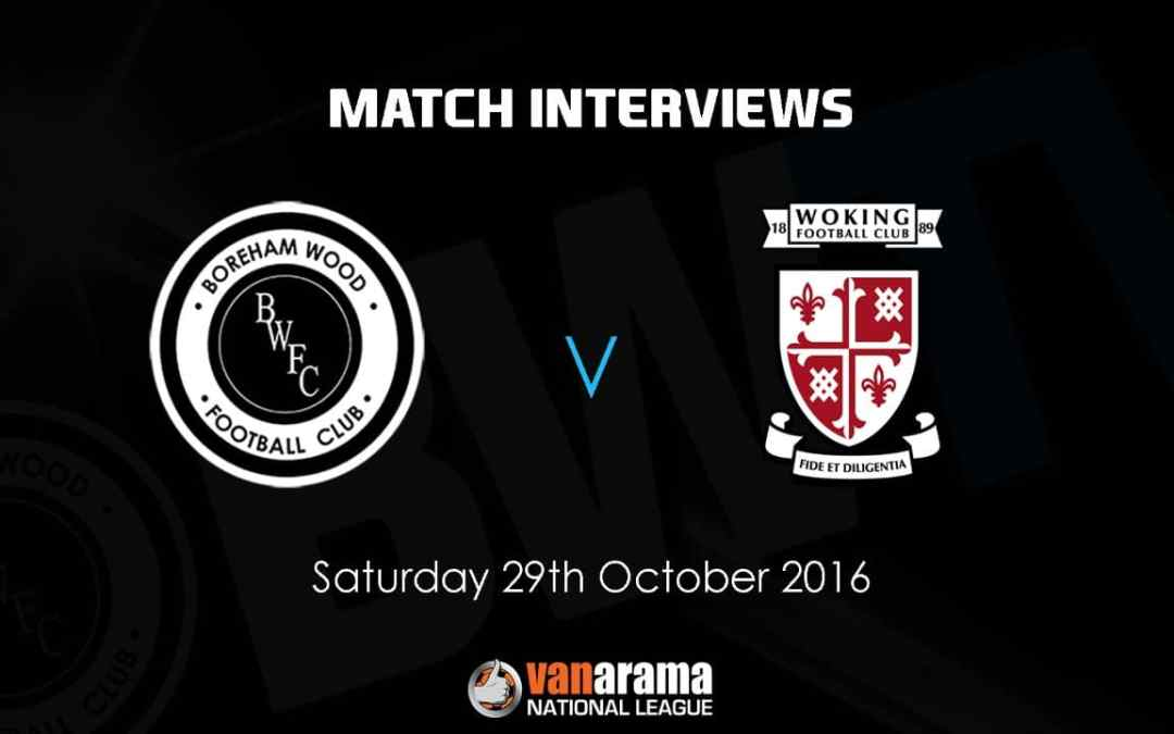 LISTEN TO THE CHAIRMAN ON THE FA CUP PLUS THE GAFFER ON TODAYS VICTORY OVER WOKING