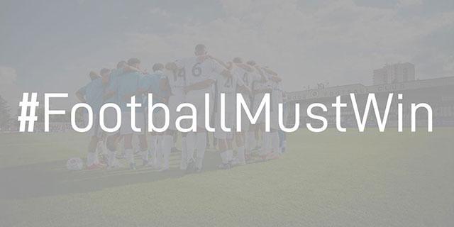 #FOOTBALLMUSTWIN