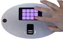 power over ethernet fingerprint biometric access control turnstile