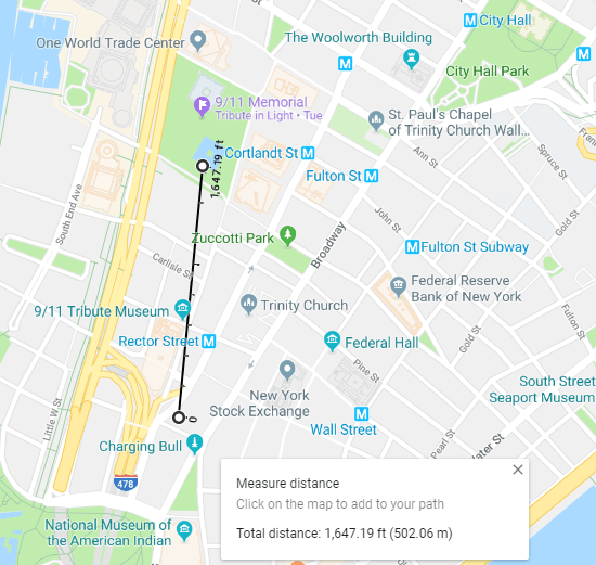 Map of lower Manhattan