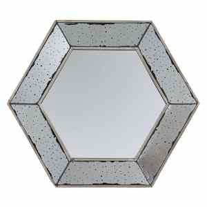 Espejo Antiq Hexagono