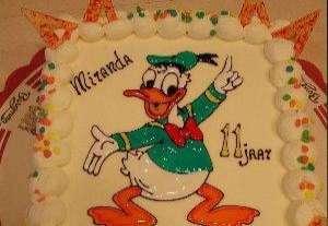 donald duck kindertaart