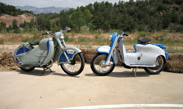 DERBI-Scooter-Masc.-125-cc-1957-y-RIEJU-Isard-125cc
