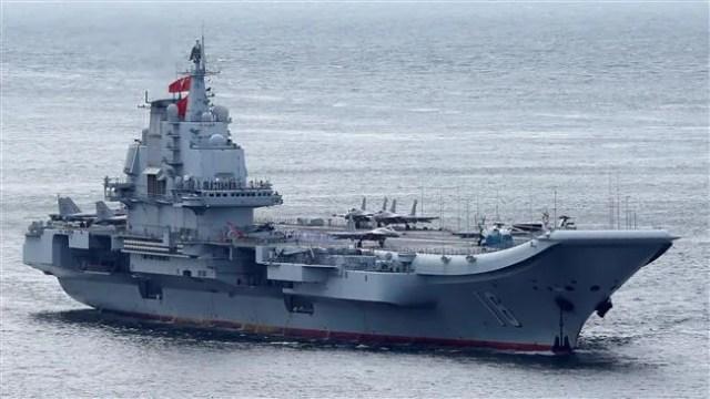 China Aircraft carrier . source: press tv /reuters