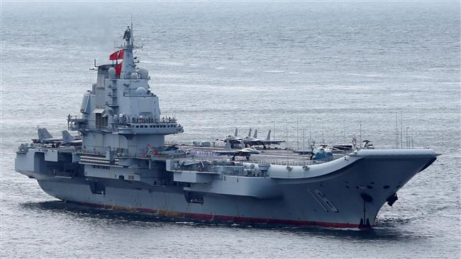 China Aircraft carrier . source: press tv /reuters