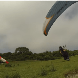 paragliding strong wind launch