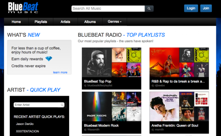 bluebeat music site
