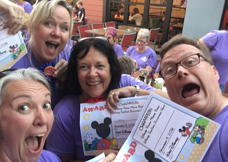 My winning Disney Springs scavenger hunt team!