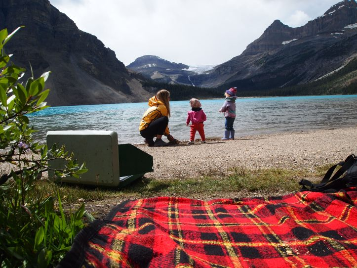 Picnic with a view of Bow Glacier
