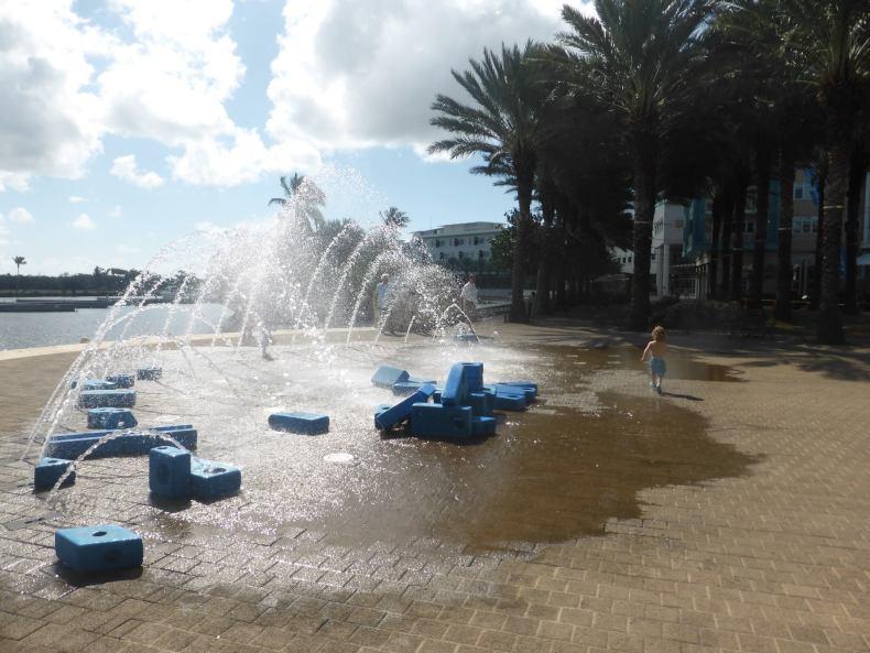 splash park at the beach