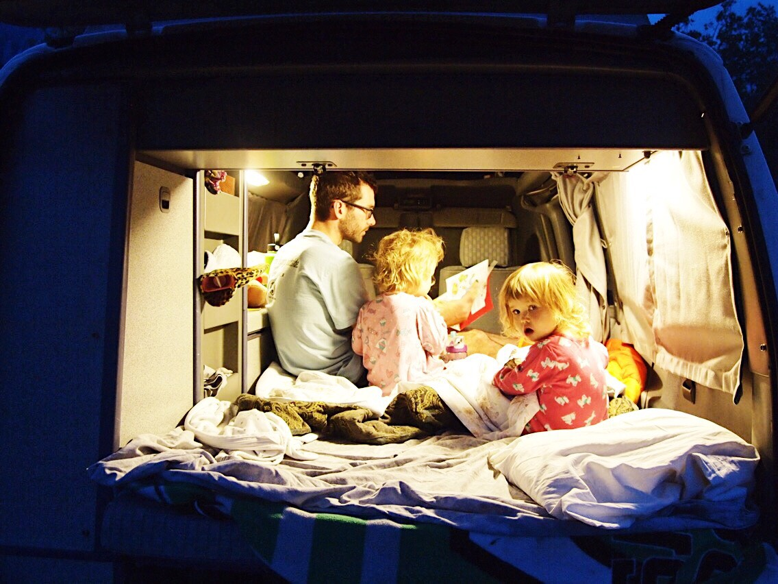 Camping in a VW Van : How to sleep a family of 4