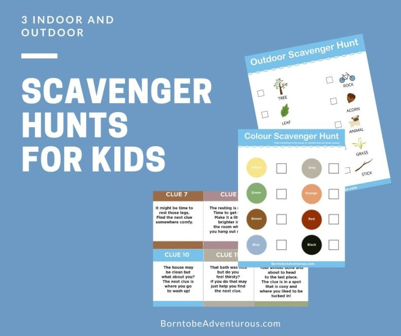Indoor and Outdoor Scavenger Hunts