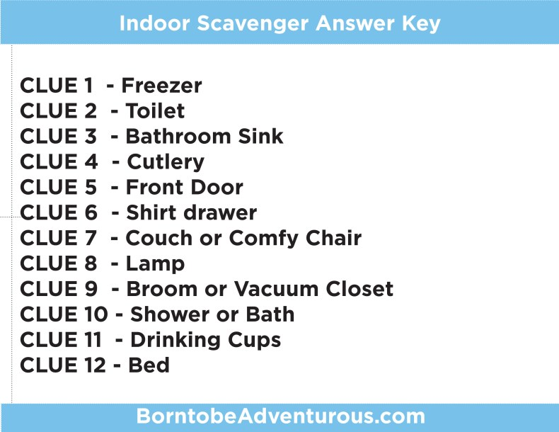 3 Outdoor And Indoor Scavenger Hunts For Kids