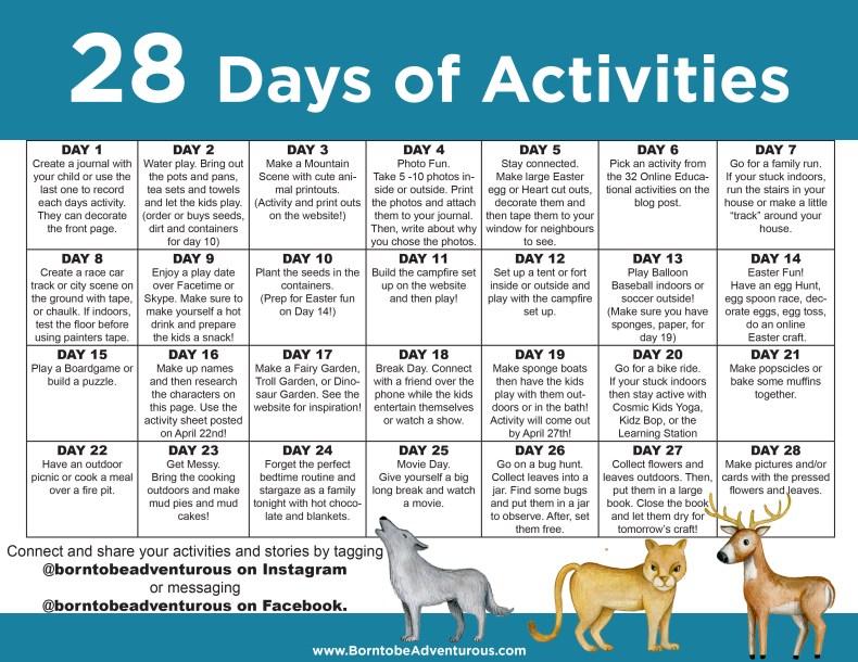 Activity Calendar for Kids