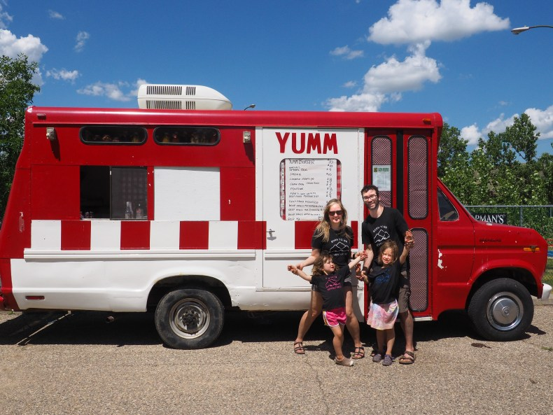 YUMM Food Truck at Echo Valley Provincial Park