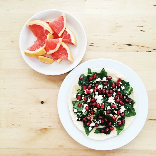 Kale, Balsamic and Pomegranate Pizza | Born To Be Bright
