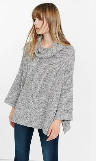 January Style Edit: Express Marl Cowl Neck Sweater