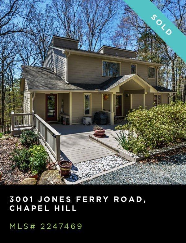 An exterior photo of 3001 Jones Ferry Road, Chapel Hill, NC, MLS# 2247469