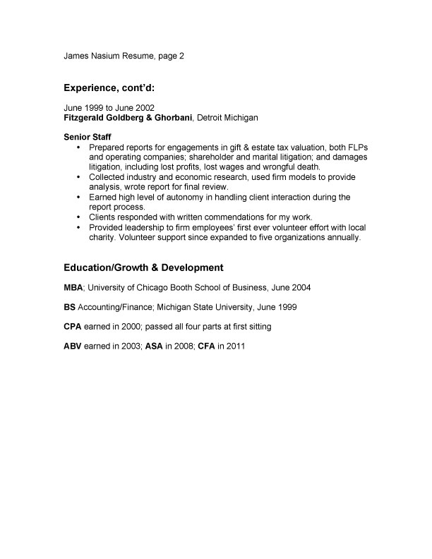Bullet Point Resume Examples. Information Technology Management