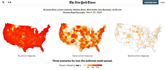 "P1a NEW YORK TIMES「Coronavirus Could Overwhelm U.S. Without Urgent Action」より - 感染しない、させない― 内なる""ロックダウン""(自衛)"