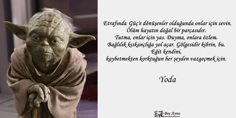 Jedi Master Yoda 02  Star Wars Boş Ayna Not Defteri