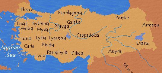 Regioni Storico Geografiche Deuropa E Dellasia Minore Colore