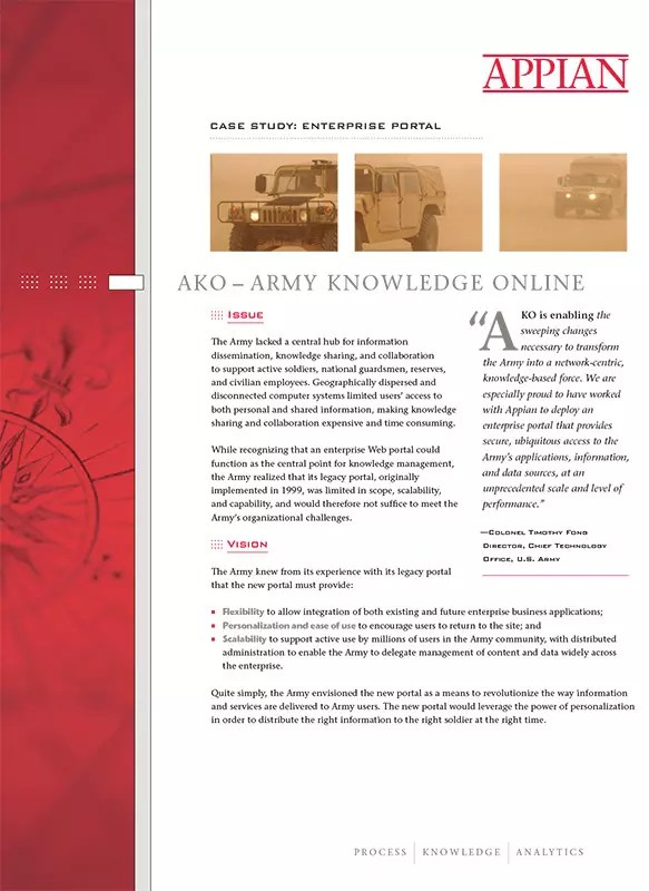 Appian - Army Product Sheet