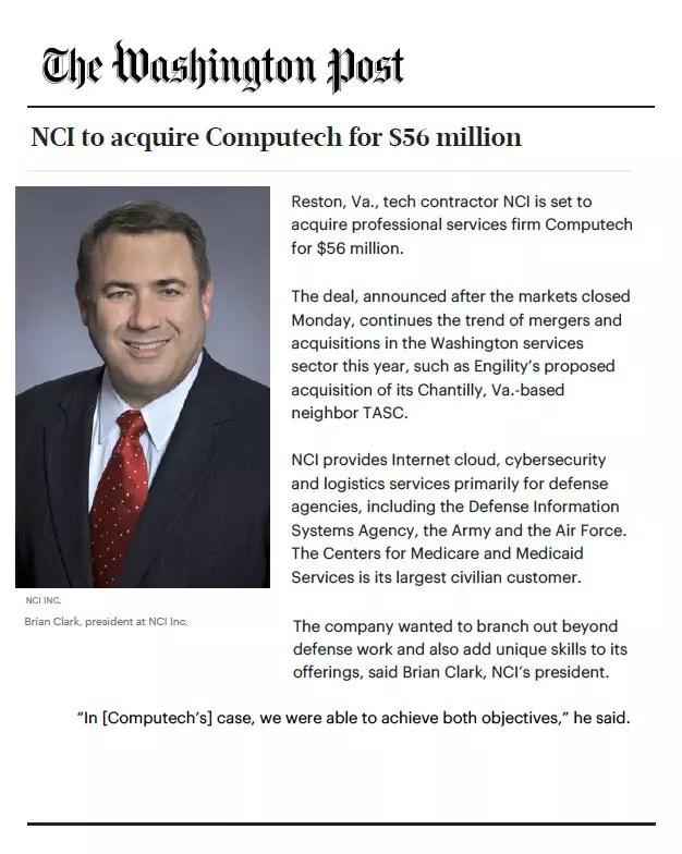 NCI - Washington Post Brian Clark Article
