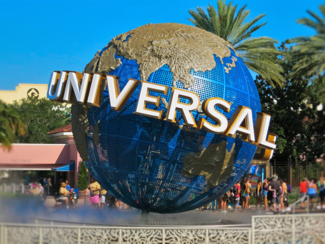 Universal Studios iconic world sculpture