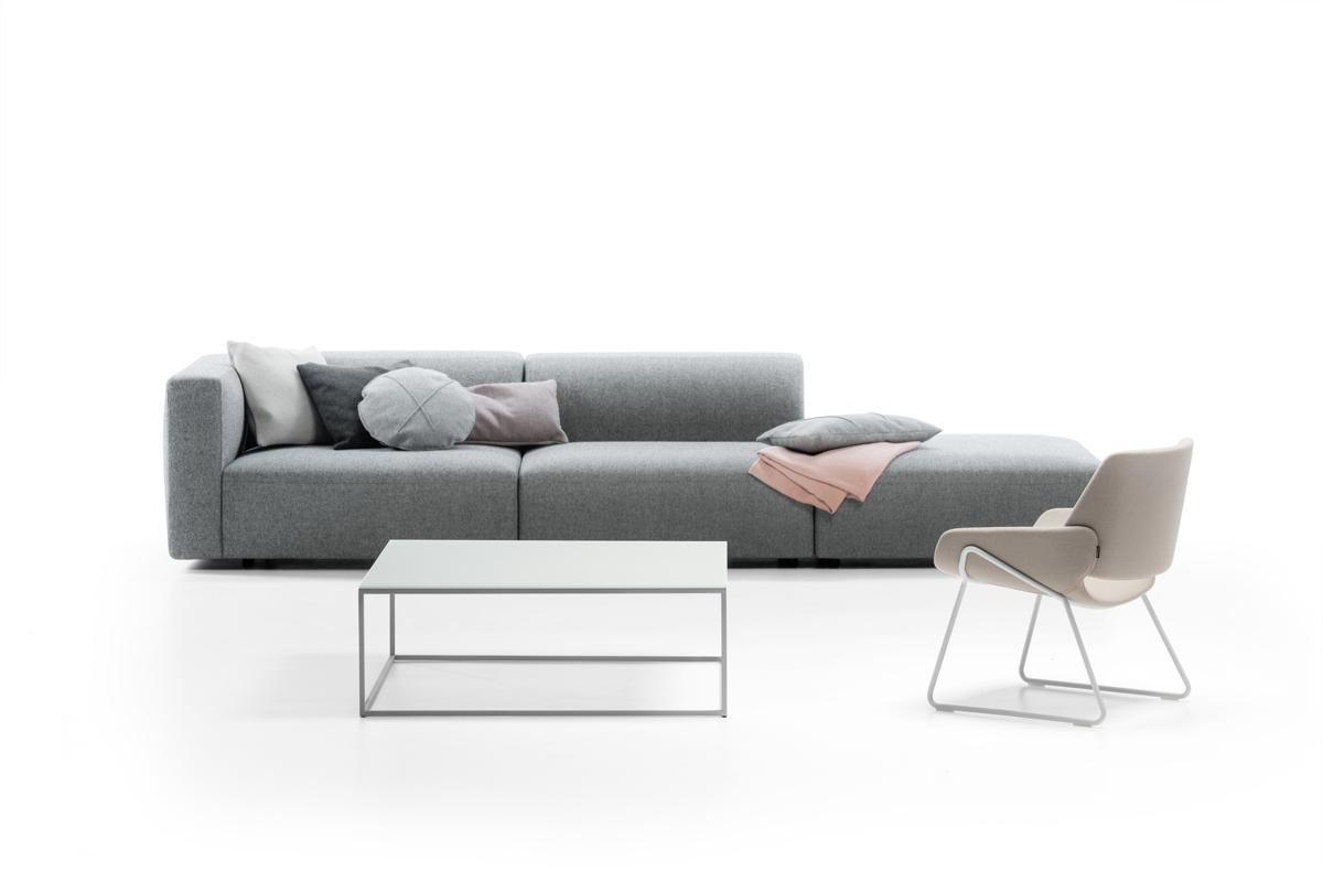 Sofa I Gra Loungesofa I Den Gra Farve Boshop