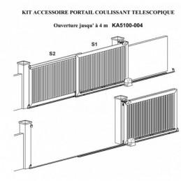Kit Portail Coulissant Telescopique Ouverture Jusqu A 1140 Metres