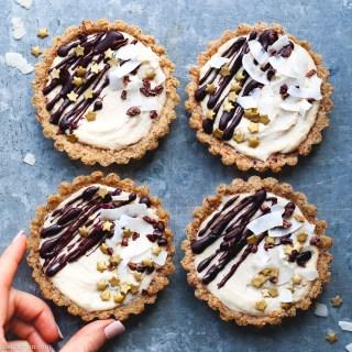 coconut caramel tarts