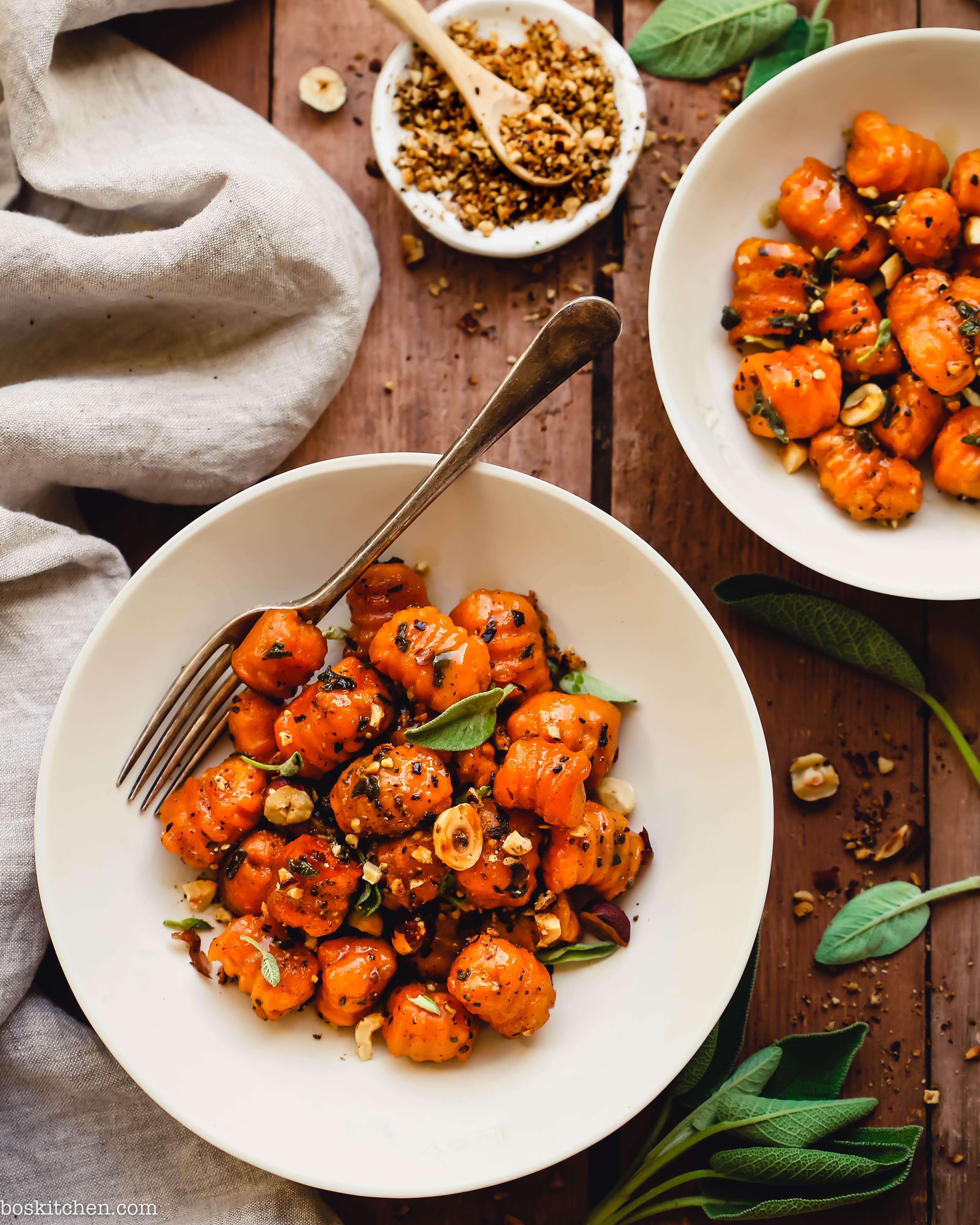 sweet potato gnocchi with sage butter sauce vegan gluten free