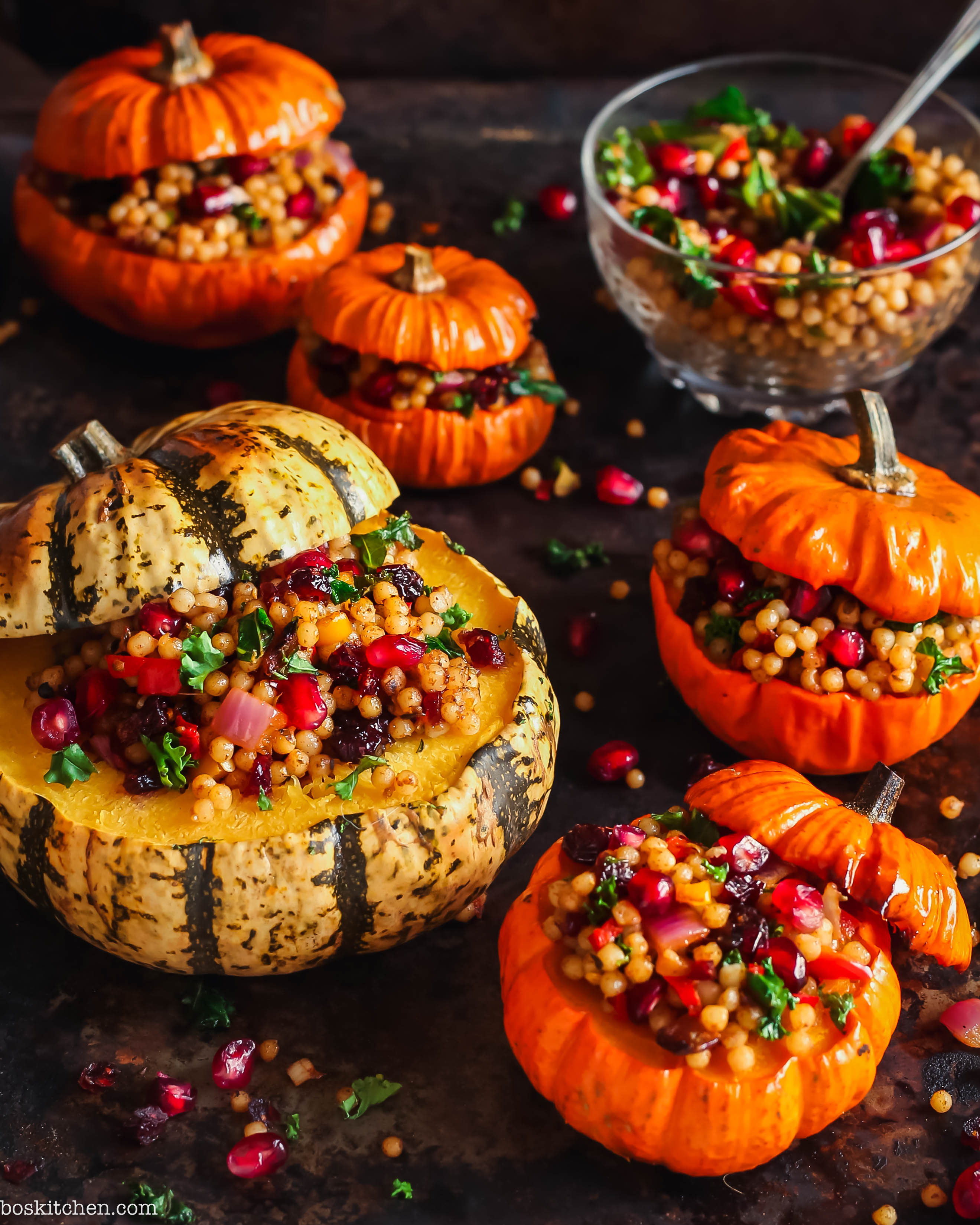 stuffed pumpkins with giant cous cous