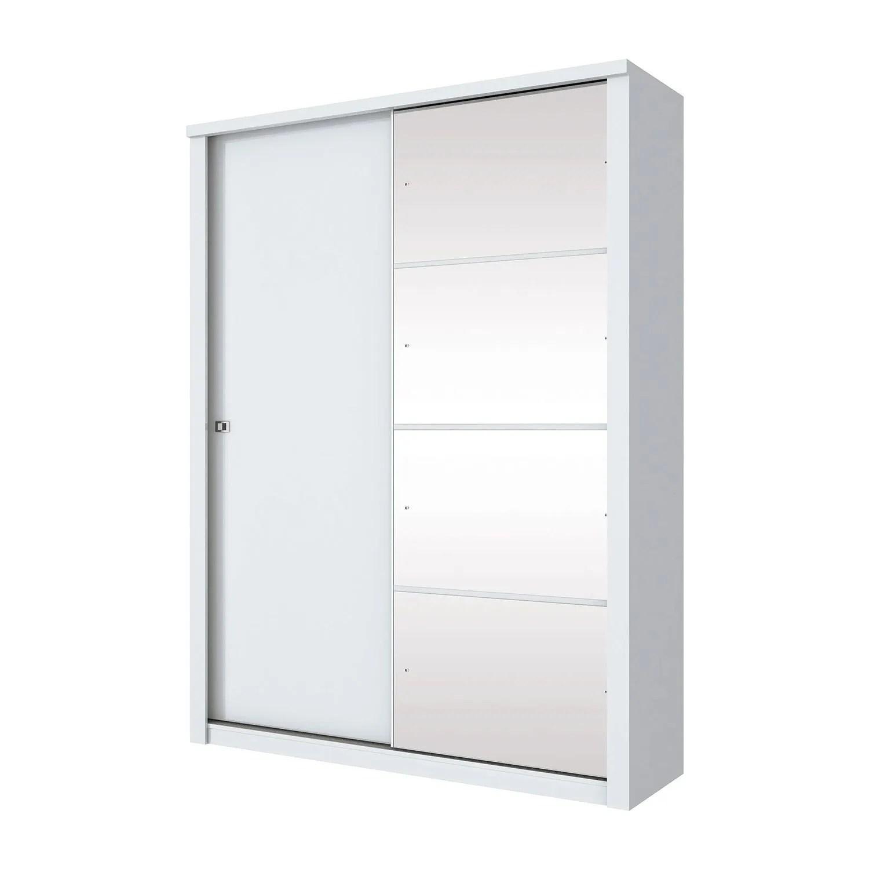 Ropero Alegro Closet Guardaropa Elegante con Espejos Blanco
