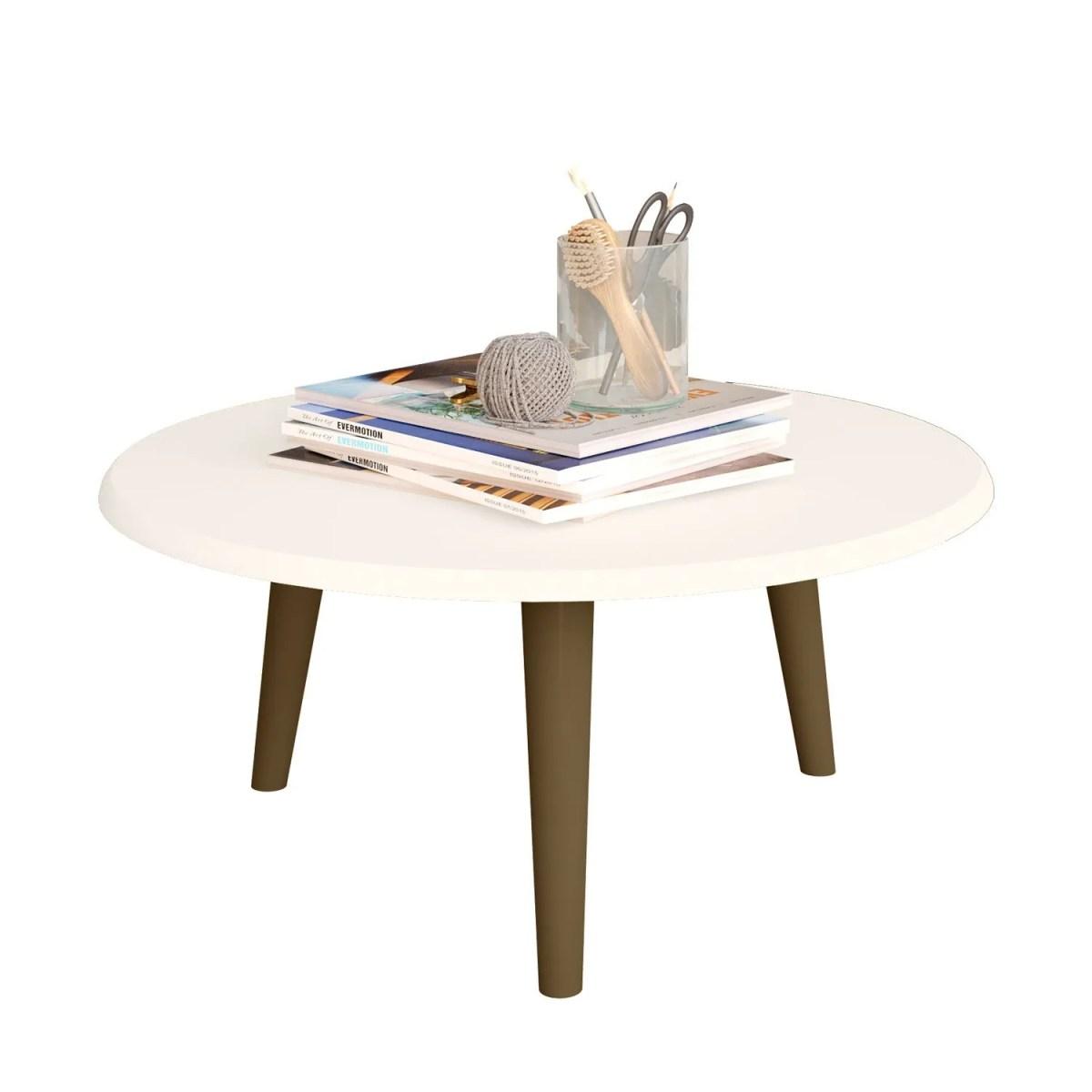 mesa de centro brillante off white 1