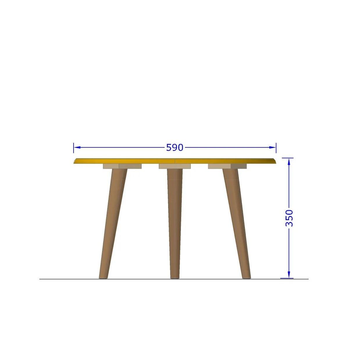 mesa de centro brillante off white 4