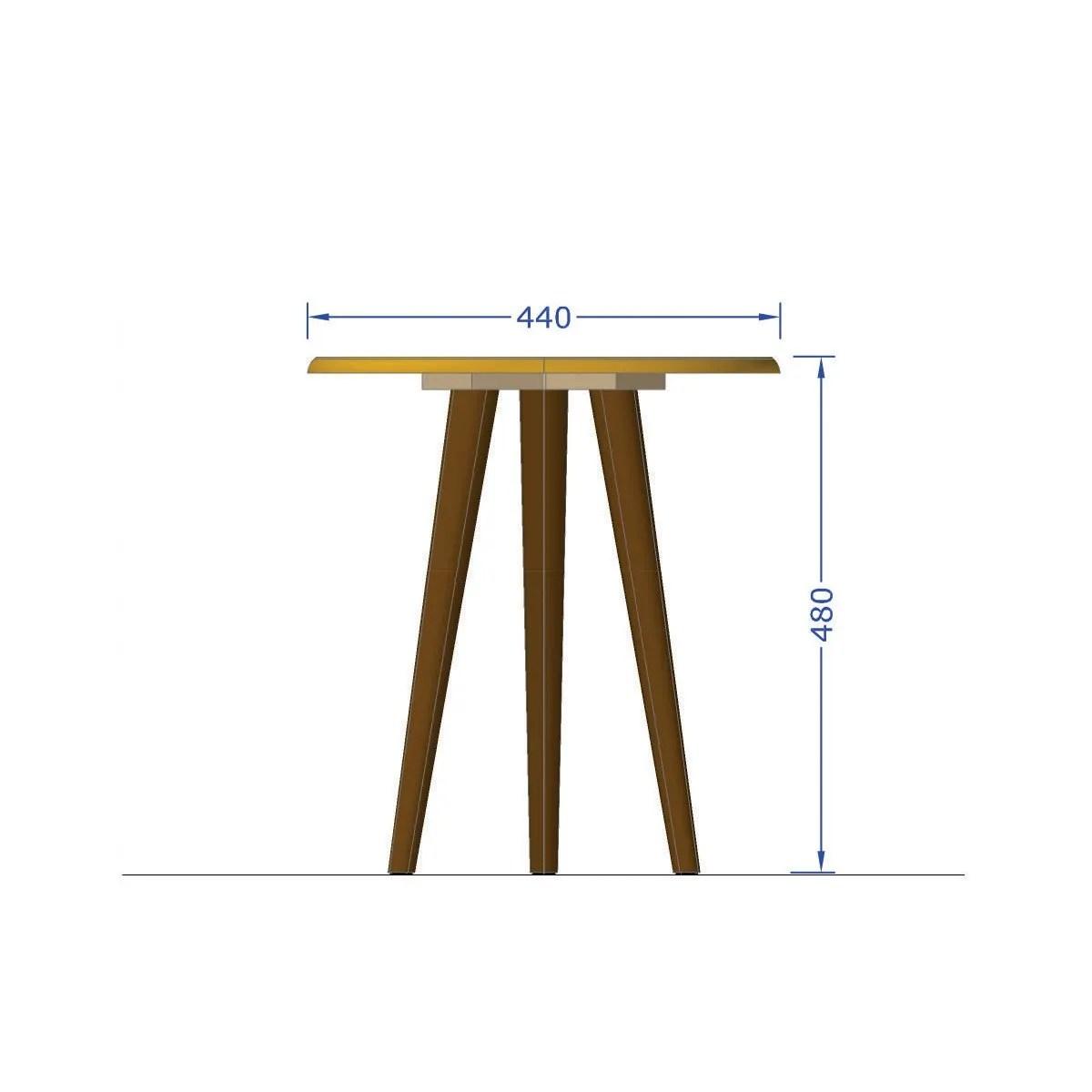 mesa lateral brillante negro 3