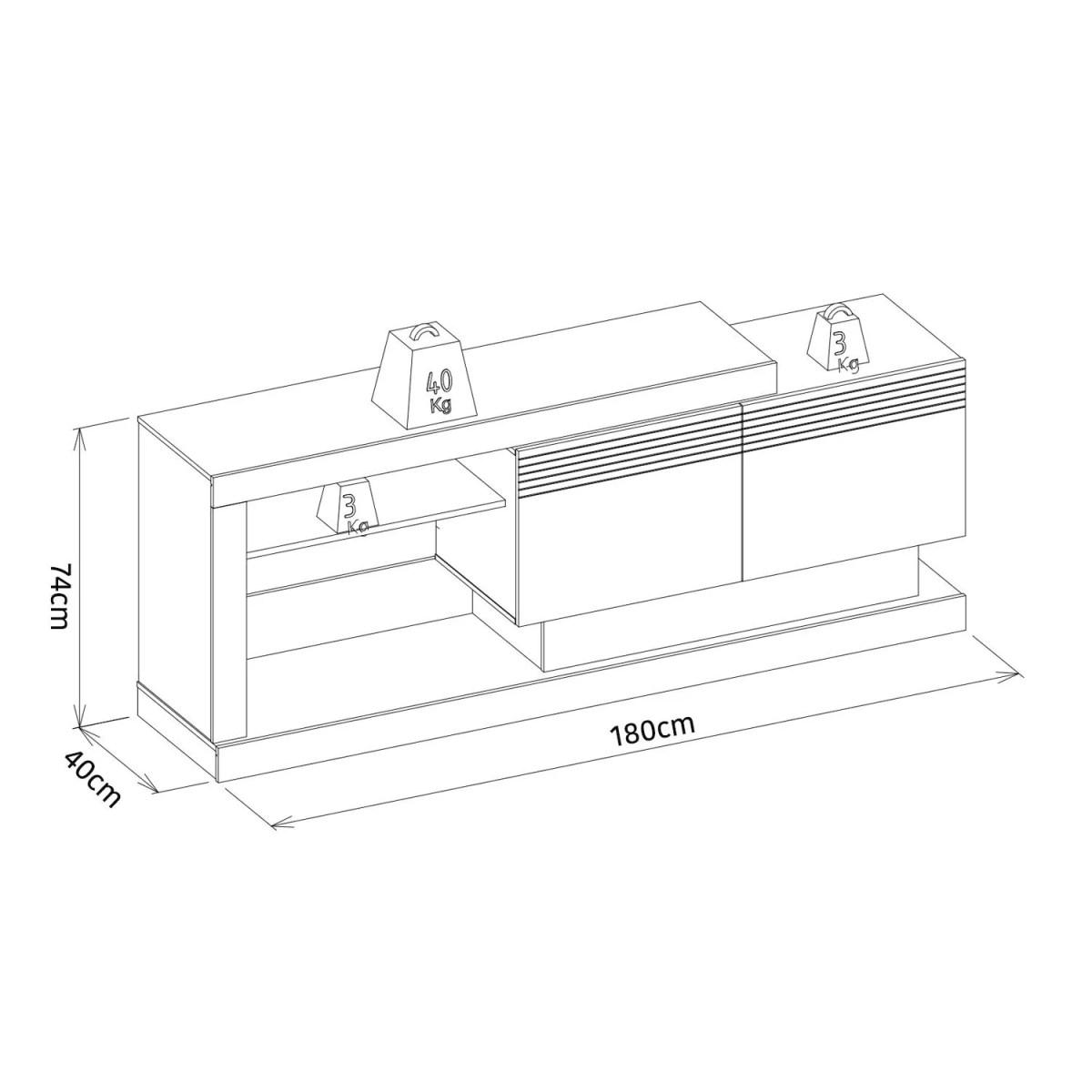 mesa para tv noronha avellana 3