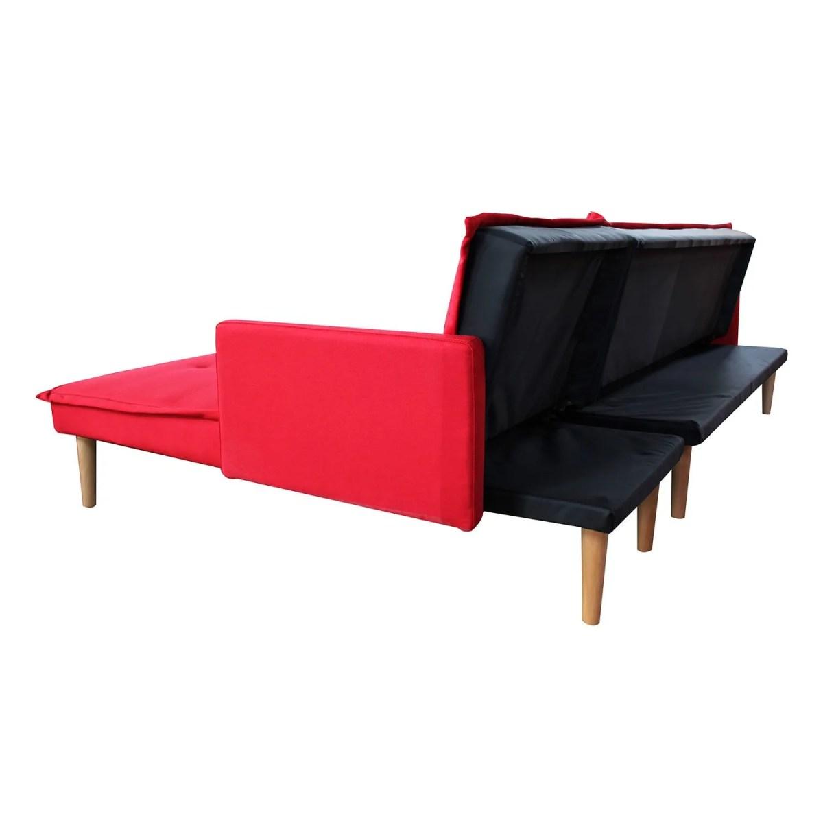 sala esquinada sofá cama independencia rojo 8