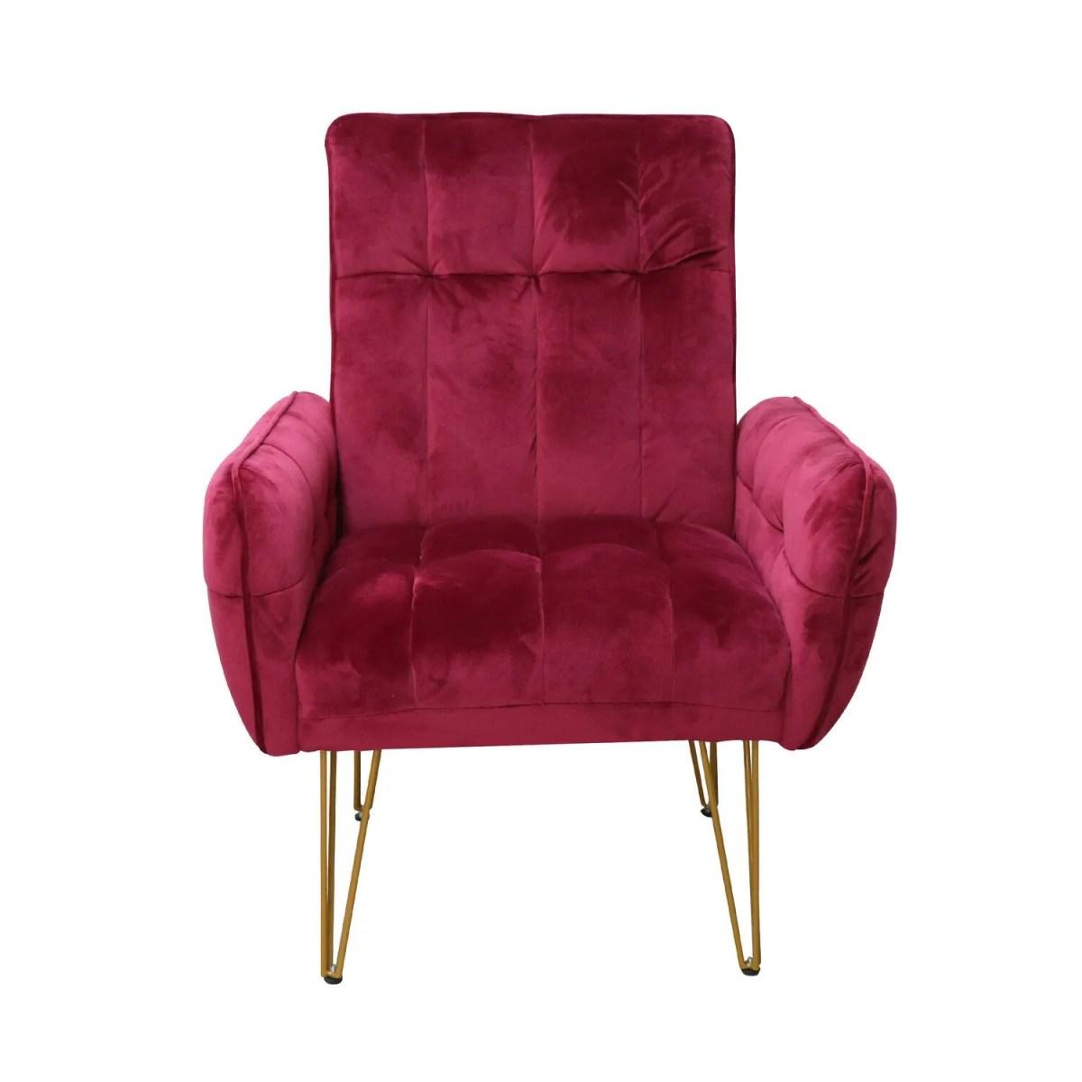 sillon vintage vendome rojo 2