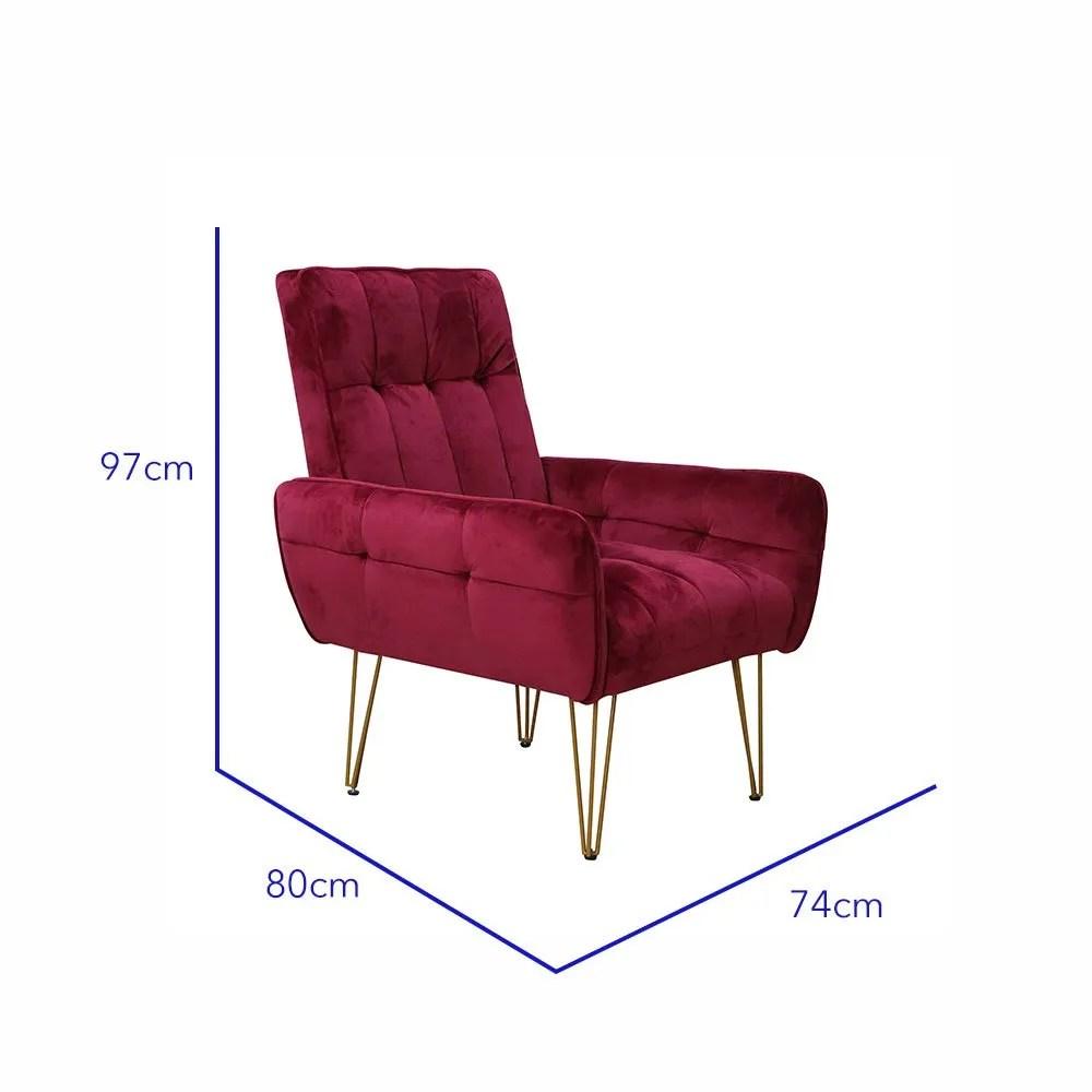 sillon vintage vendome rojo 6
